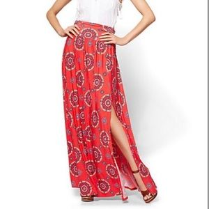 NYC SLIT FRONT MAXI SKIRT